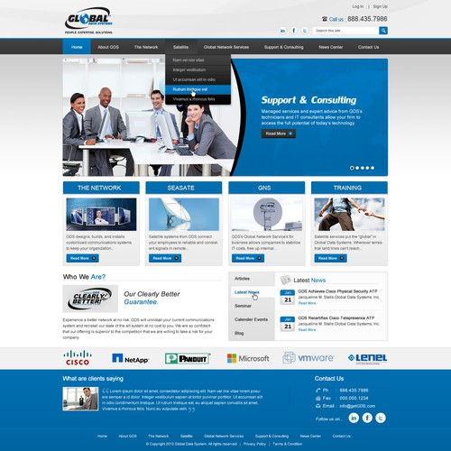Help Global Data Systems, Inc. with a new website design