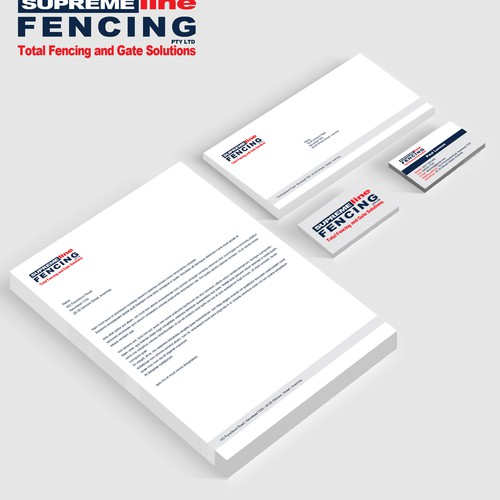 Create a modern fencing logo that encapsulates security, strength and professionalism.