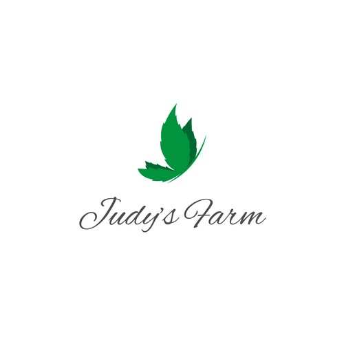 Elegant concept logo for marijuana farm