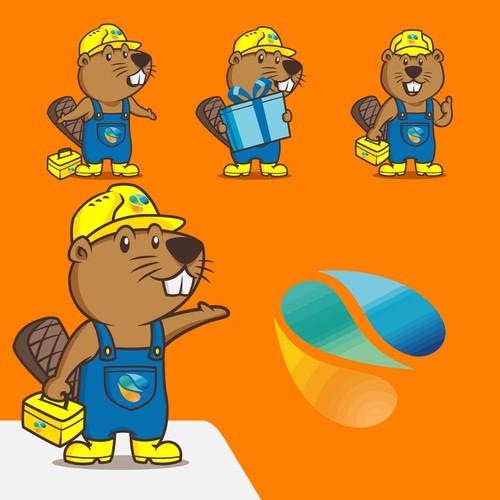 Beaver Mascot for Stadtwerke Annweiler am Trifels
