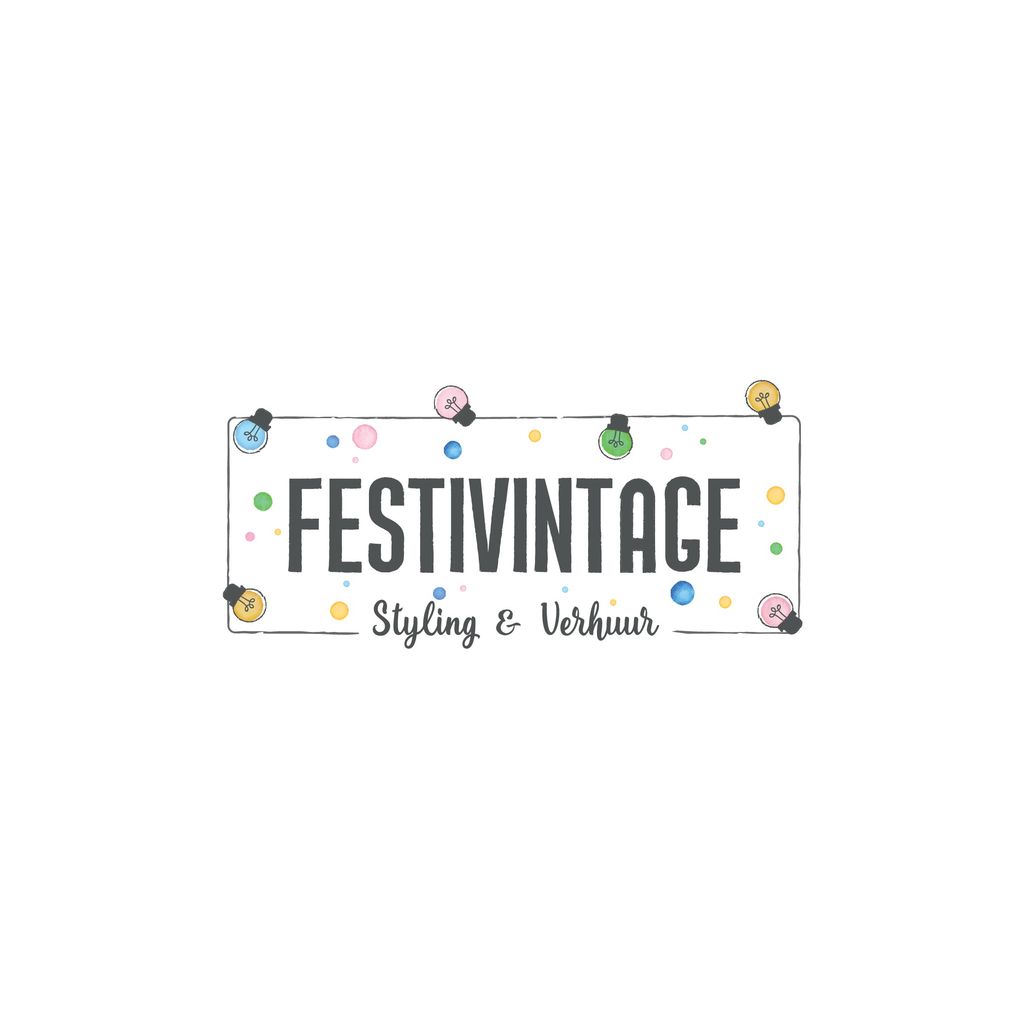 Logo for a vintage rental company - Festivintage