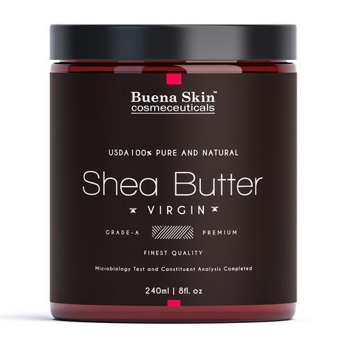 Elegantnt label for Shea butter.
