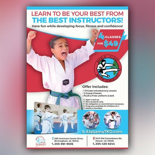 Tae Kwon Do School Promotional Flyer