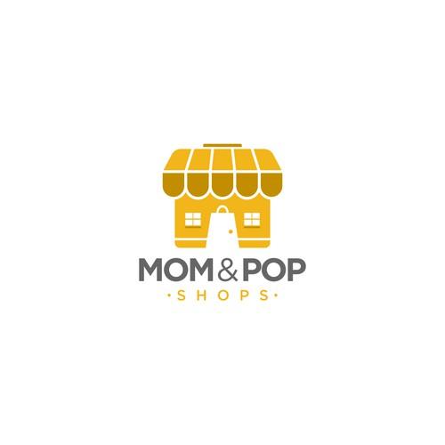 Home shops Logo Concept for Mom&Pop