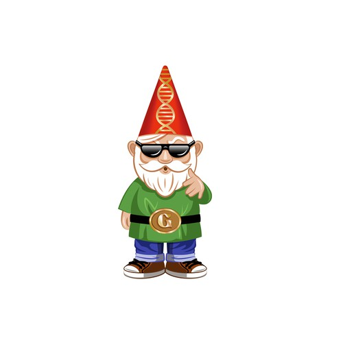 Gnome character for a genotyping service