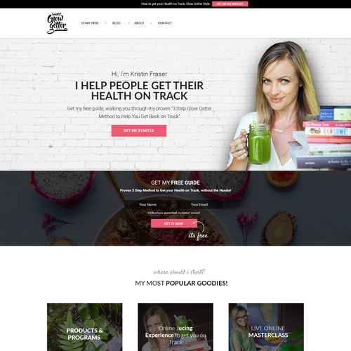 LEADPAGE For Glow Getter