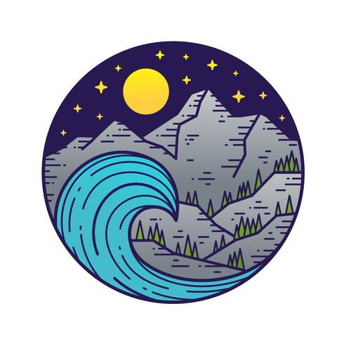 标志例证行星普雷弗