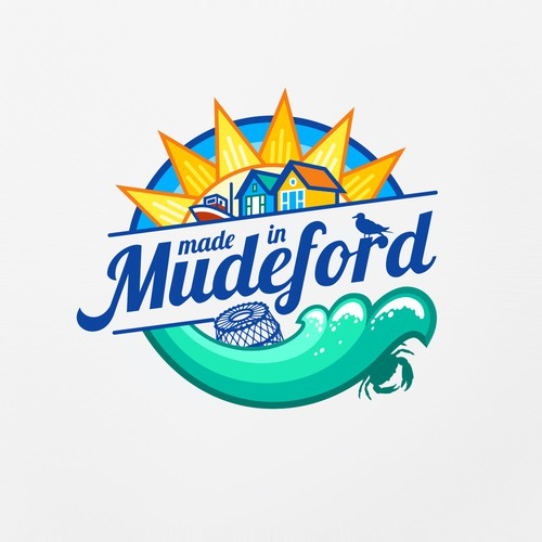 """Made in Mudeford"" clothing brand design"
