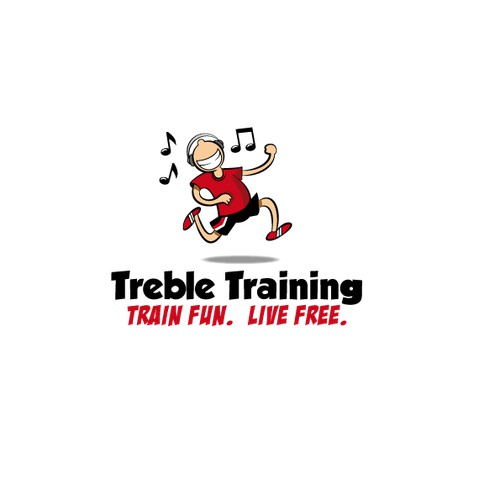 Exercise, Music, and Freedom. Logo for Treble Training
