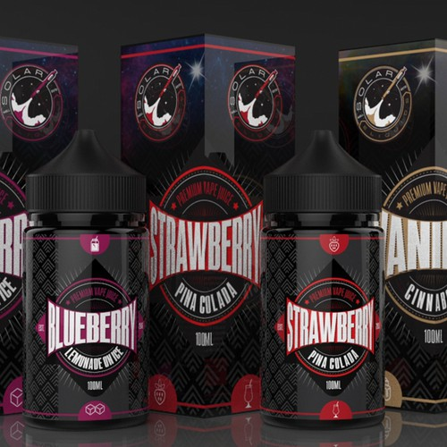 Premium packaging for a vape juice company