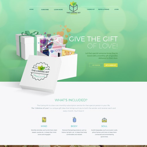 Landing Page t- The Caring Kit