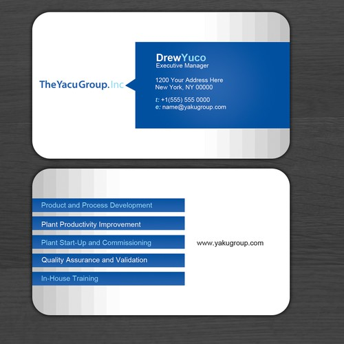 stationery for The Yacu Group Inc