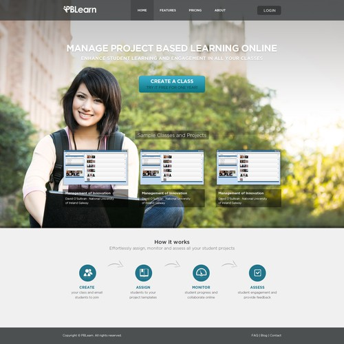 Create the next website design for PBLearn