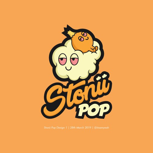 Logo concept for Stonii Pop Company