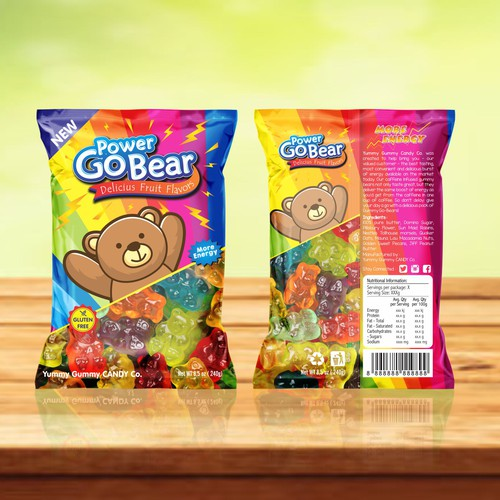Package Design for Caffeinated Gummy Bears!