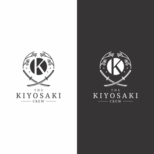 Bold Masculine Japanese Theme Logo for The Kiyosaki Crew
