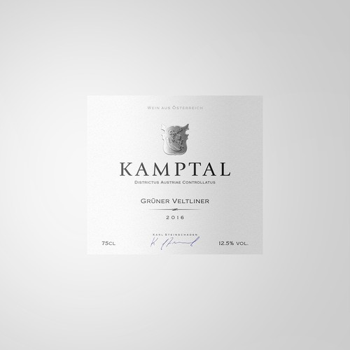 Kamptal wine label