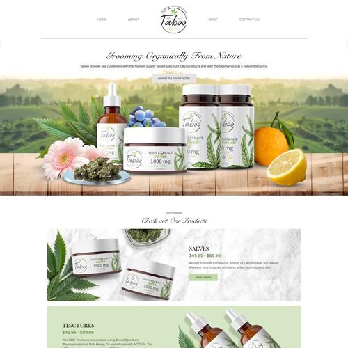 Organic CBD Taboo Website