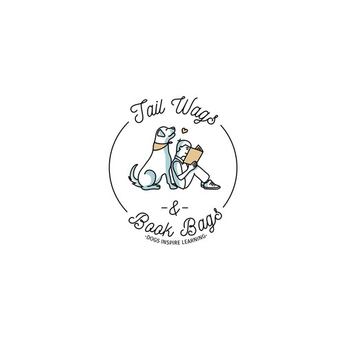 Logo for Tail Wags & Book Bags