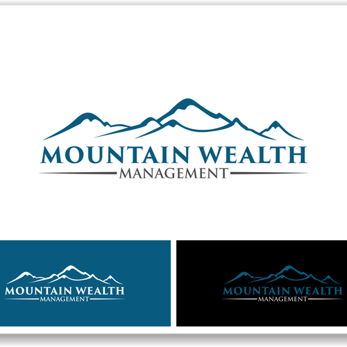 Create a logo that is clean, natural, modern, professional, contemporary for Mountain Wealth Mngmt