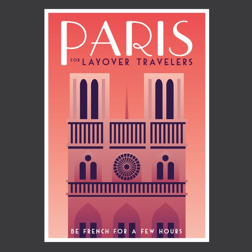 Design for a tourist map of Paris