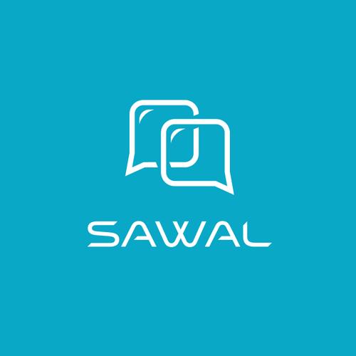 """Logo design for """"Sawal"""" app."""
