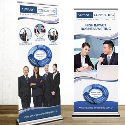 Retractable Banner Signage for Training Consultancy