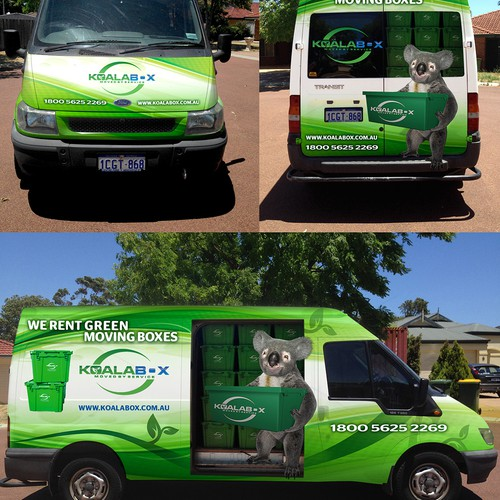Van Wrap for a Removal Supply Business