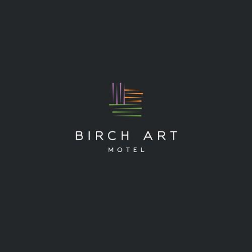 logo for a boutique retro arts motel