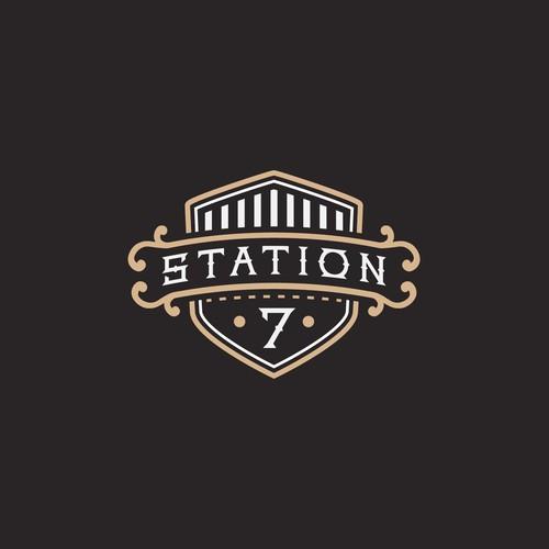 Station 7 logo design concept