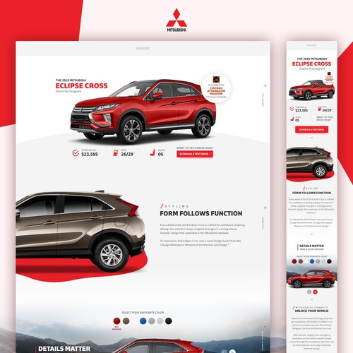New design for 2019 Mitsubishi Cross