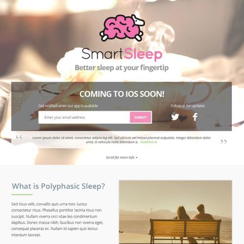 SmartSleep iOS app landing page