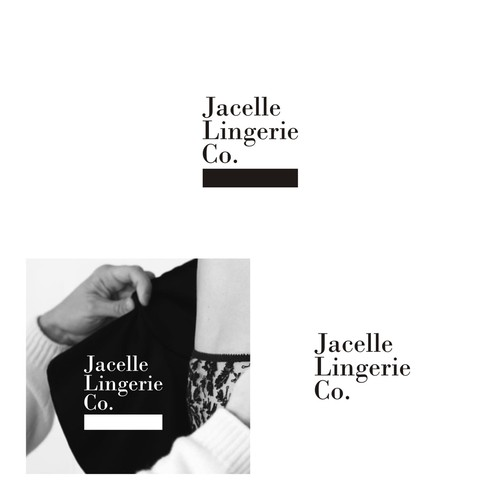 Concept logo for lingerie products