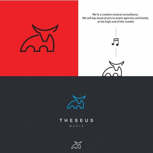 bull logo for music company