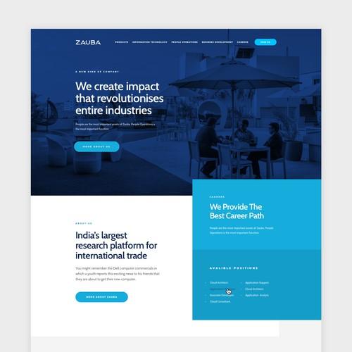 Zauba Home Page