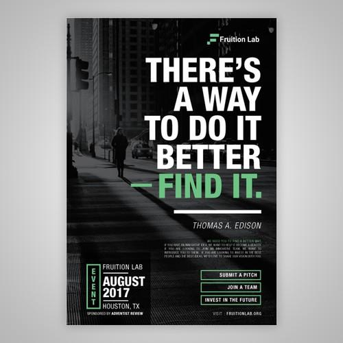 Minimalist Magazine Ad for FruitionLab