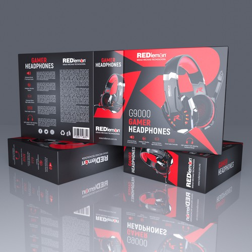 Gamers Headphones packing