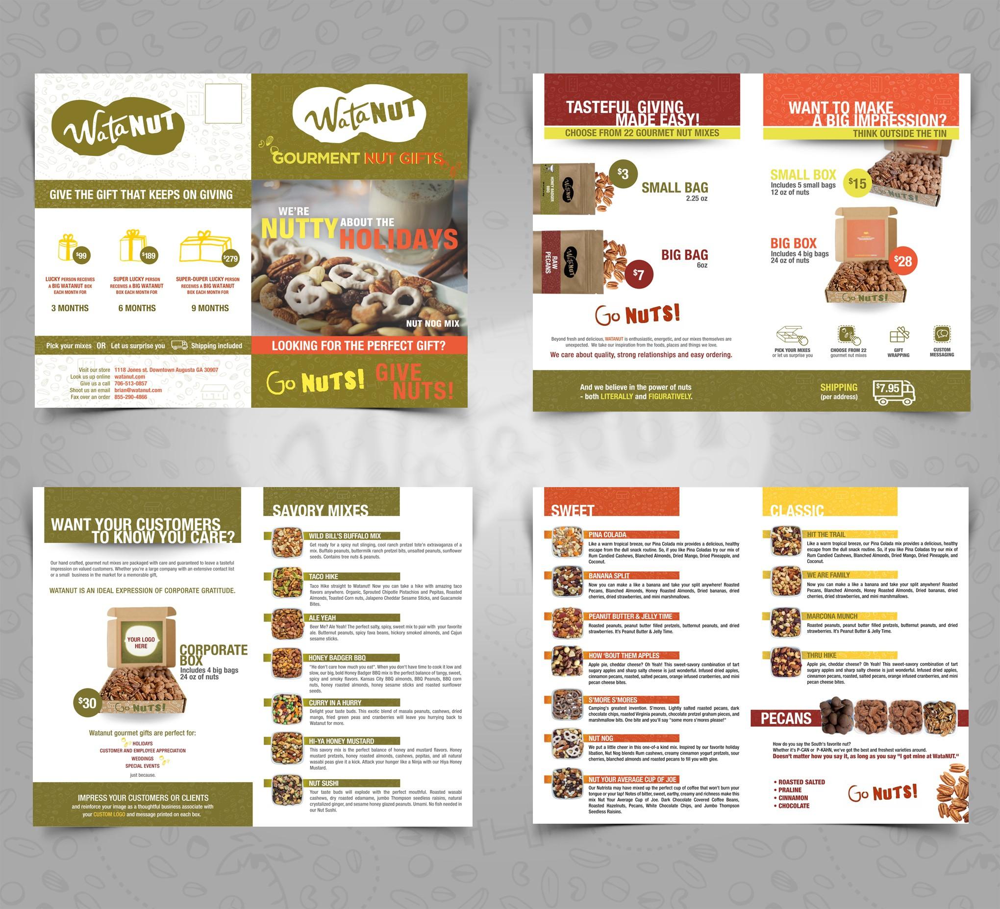Create awesome holiday brochure for gourmet nut company Watanut
