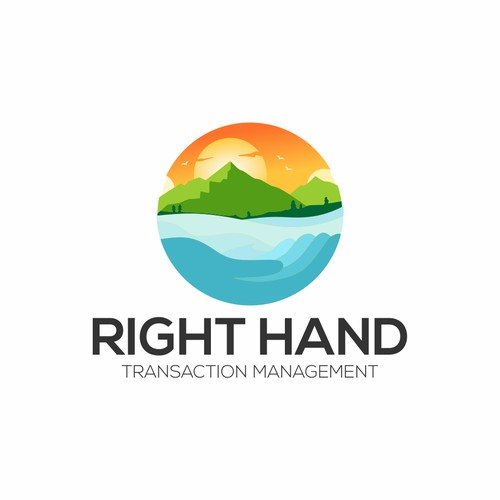 a logo for right hand transaction