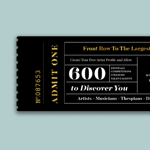 Modern Movie Ticket for Company Promo
