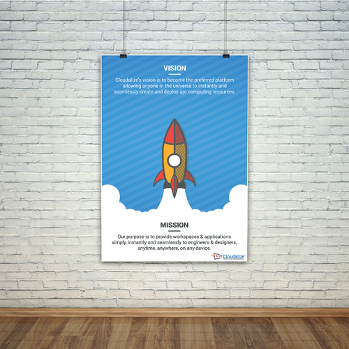 Cartoon style poster for Cloudalize