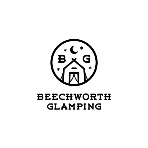 Logo design for glamping company
