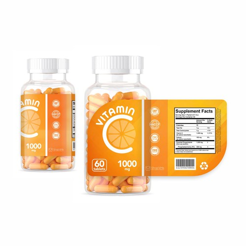Vitamin C label design