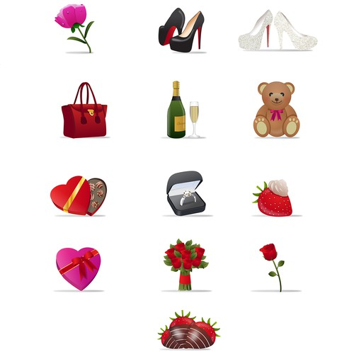 Dating Site Gift Icons