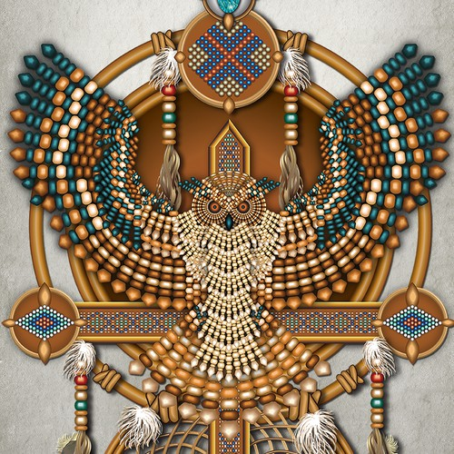 Native American Owl Canvas