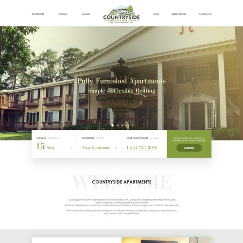Mainpage for Hotel Design Contest