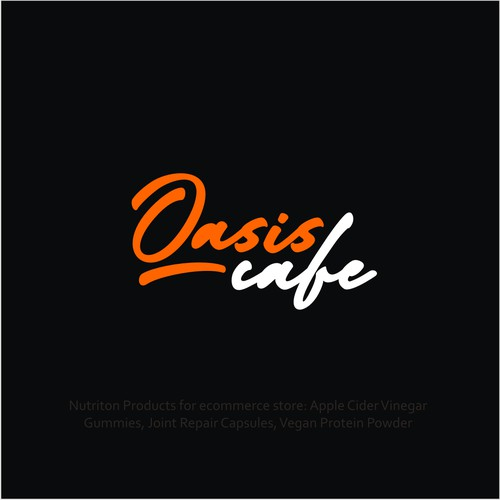 Oasis cafe Official Text Logo