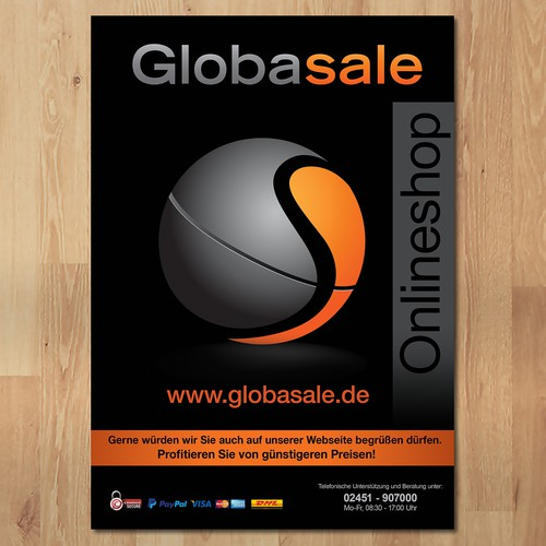 Globasale Onlineshop flyer