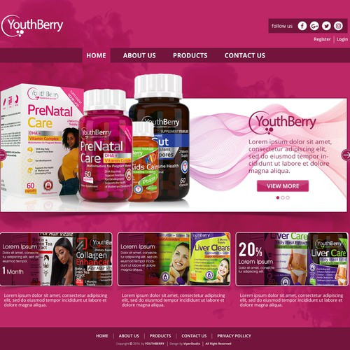 Web page for Youth Berry