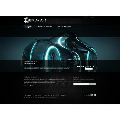 Web site for Cloud Film Production Company: Factory Studios